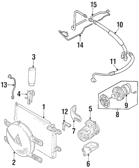 OEM CONDENSER, COMPRESSOR & LINES for 1998 Chevrolet