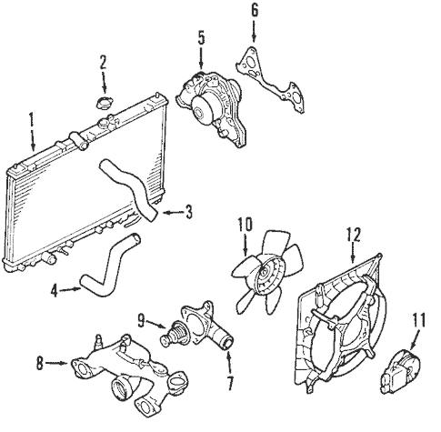 Radiator & Components for 2006 Mitsubishi Eclipse
