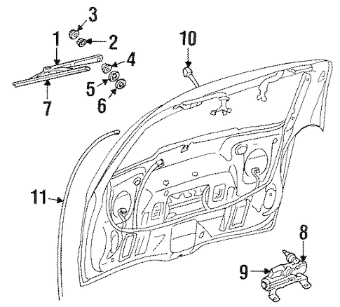 WIPER & WASHER COMPONENTS for 2002 Oldsmobile Silhouette
