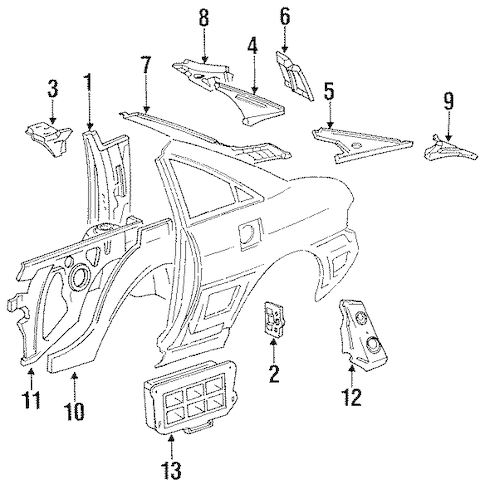 INNER COMPONENTS for 1991 Toyota MR2