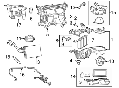 Evaporator & Heater Components for 2015 Chrysler 300