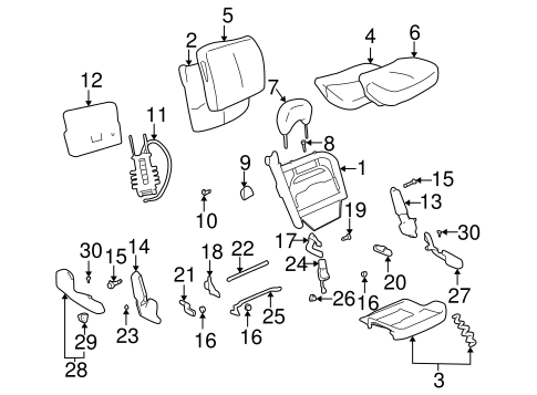 Front Seat Components for 2005 Buick LeSabre