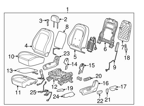 OEM 2013 Chevrolet Captiva Sport Power Seats Parts