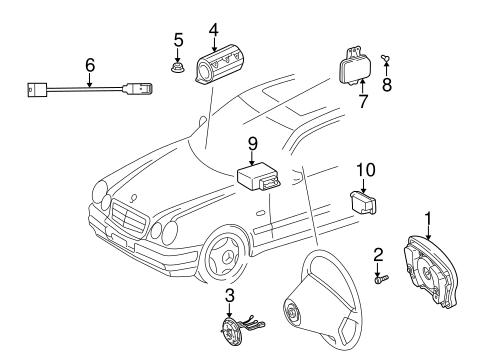 Air Bag Components for 2002 Mercedes-Benz CLK 55 AMG