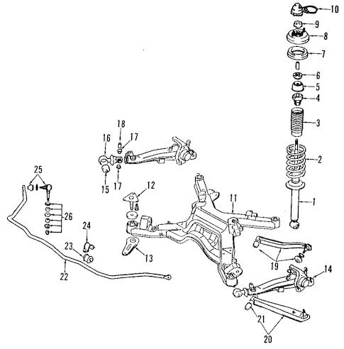 REAR SUSPENSION for 1992 Mitsubishi 3000GT