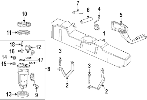 FUEL SYSTEM COMPONENTS for 2001 Dodge Ram 3500