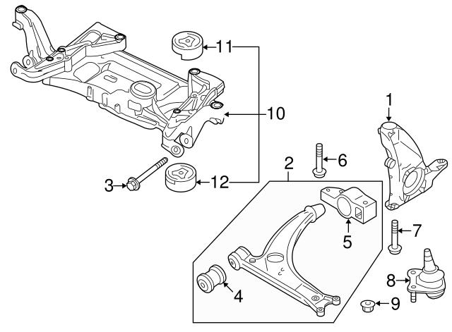 2006-2018 Volkswagen Lower Control Arm Bracket 3C0-199-231