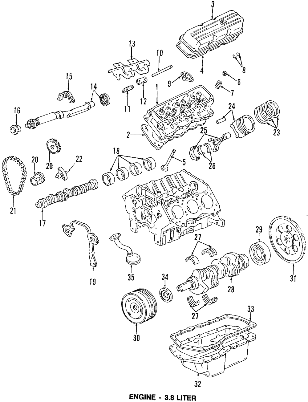 medium resolution of oem 3 8l engine valve lifter guide buick chevrolet oldsmobile pontiac 24503256 main image part can be found as 12 in the diagram above
