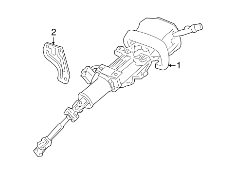OEM 2009 Buick LaCrosse Steering Column Assembly Parts