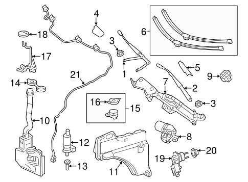 Wiper & Washer Components for 2014 Mercedes-Benz GL 350
