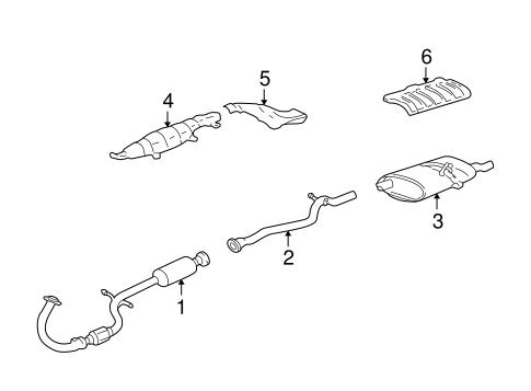 OEM 2002 Pontiac Sunfire Exhaust Components Parts