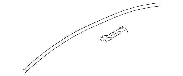 2008-2017 Mitsubishi Lancer Drip Molding 7400A094