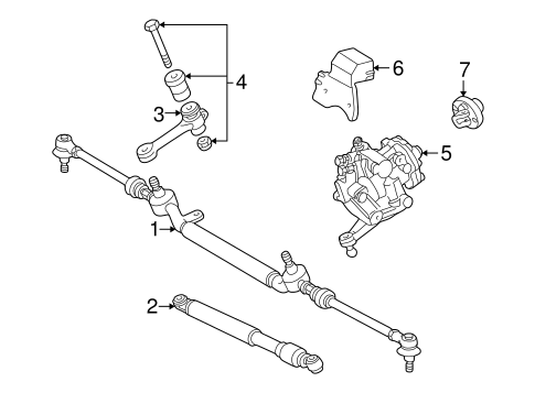 Steering Gear & Linkage for 2002 Mercedes-Benz SLK 230