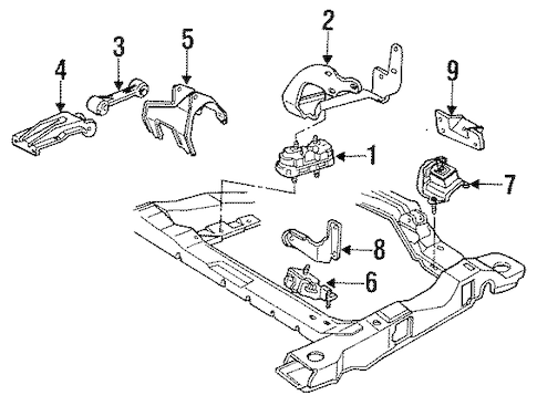 OEM ENGINE & TRANS MOUNTING for 1993 Buick Century