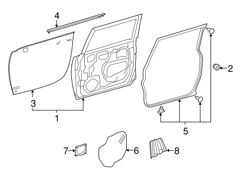 Genuine OEM Door & Components Parts for 2007 Toyota FJ