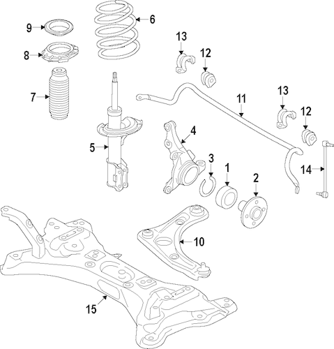 SUSPENSION COMPONENTS for 2015 Nissan Versa