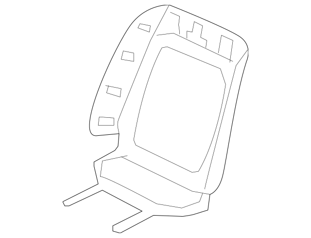 Genuine 2007 Honda CIVIC COUPE Cover, R Front Seat-Back