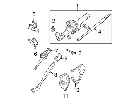 STEERING COLUMN ASSEMBLY for 2013 Toyota Tacoma