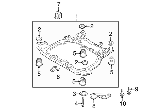 Elantra Front Suspension/Suspension Mounting Parts