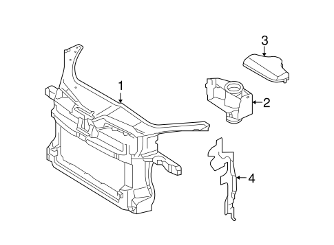 Vw Rabbit Radiator Support, Vw, Free Engine Image For User