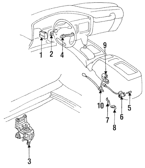 CRUISE CONTROL SYSTEM for 1992 Toyota Land Cruiser