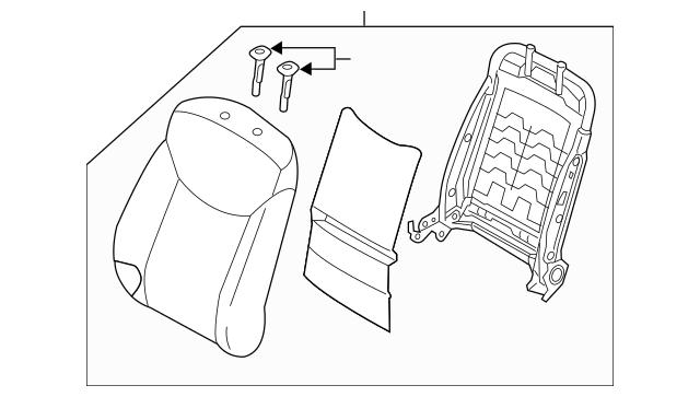 2011-2012 Hyundai Elantra Seat Back Assembly 88300-3X580
