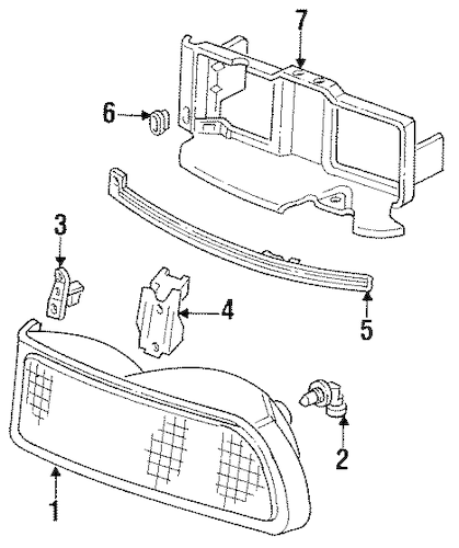 OEM Headlamp Components for 1996 Buick Regal