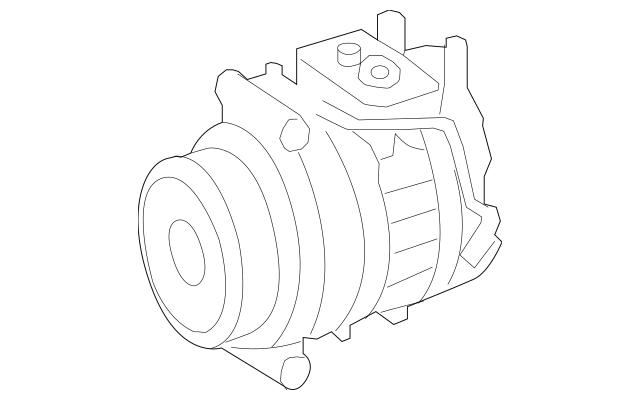Genuine Mercedes-Benz Remanufactured Compressor 002-230-67