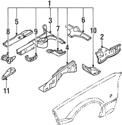 Structural Components & Rails for 1990 Mazda Miata