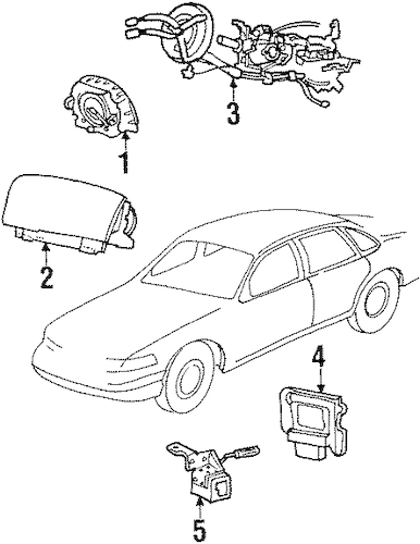 Air Bag Components for 2001 Mercury Grand Marquis