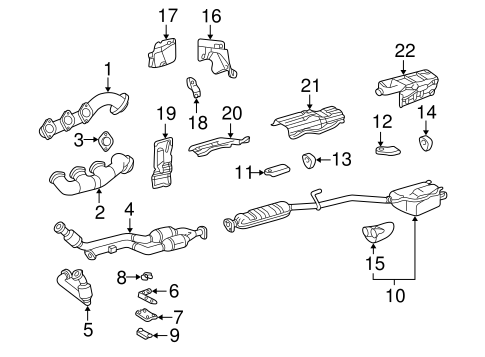Exhaust Components for 1998 Mercedes-Benz CLK 320