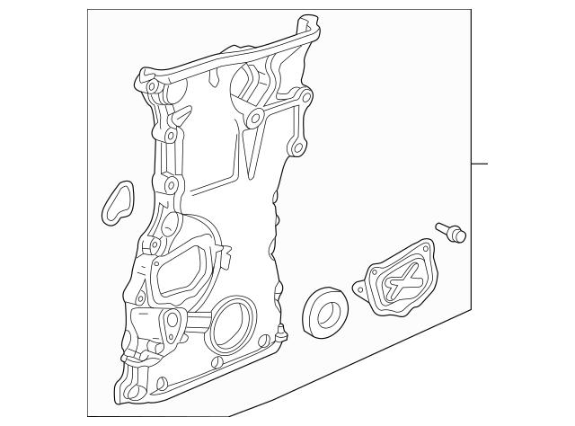2004-2006 Acura TSX SEDAN Case Assembly, Chain 11410-PPA