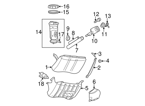 FUEL SYSTEM COMPONENTS for 1999 Jeep Grand Cherokee
