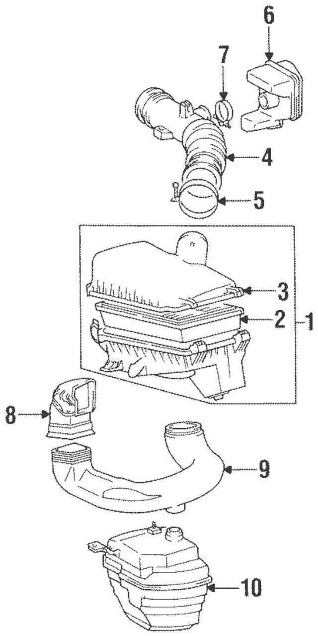 1993-2002 Toyota Corolla Filter Element 17801-02030