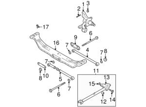 Elantra Rear Suspension Parts | Elantra 2005 Hyundai