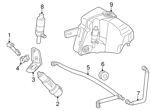 Washer Components for 2000 Mercedes-Benz ML 320