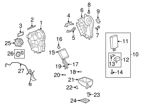 EVAPORATOR & HEATER COMPONENTS for 2012 Chevrolet Traverse