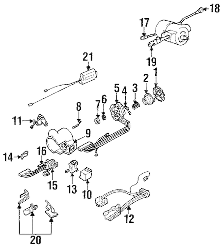 OEM SHROUD, SWITCHES & LEVERS for 1999 Oldsmobile 88