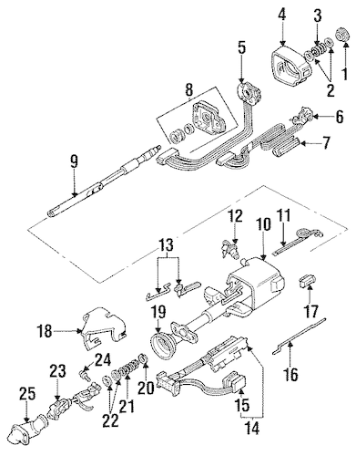 Steering Column Parts for 1990 Buick Regal