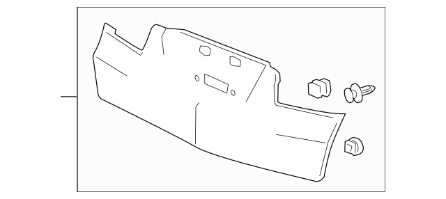 OEM Acura Garnish Assembly, Tailgate (Lower) *NH700M