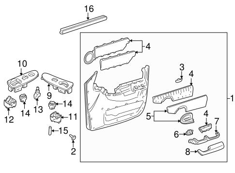 OEM 2002 Chevrolet Venture Front Door Parts