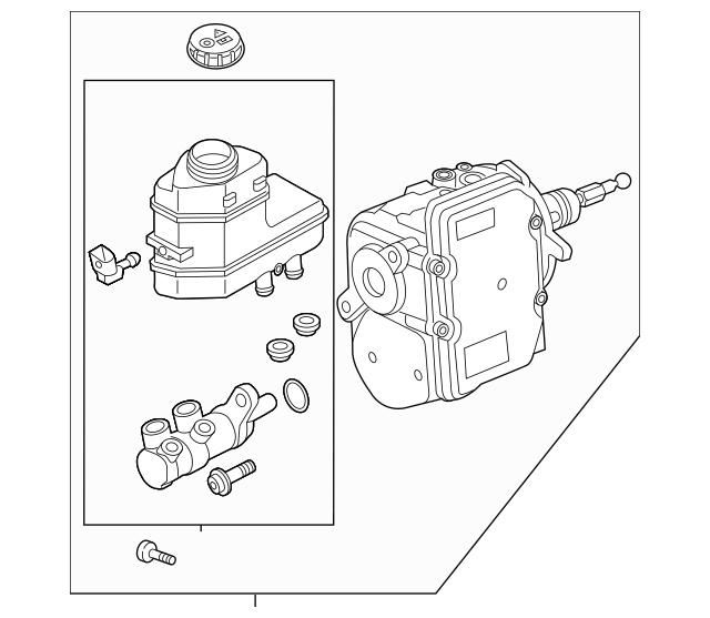 2016-2017 Audi A3 Sportback e-tron Master Cylinder