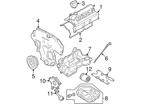 ENGINE PARTS for 2012 Nissan Altima