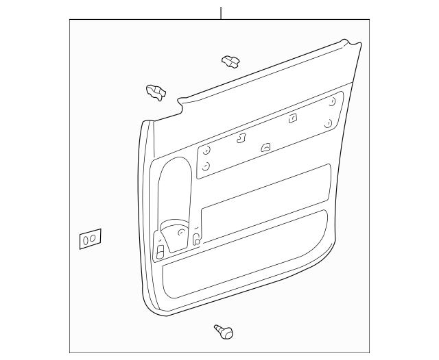 OEM Door Trim Panel for 2001 Toyota Sienna|67680-08030-B0