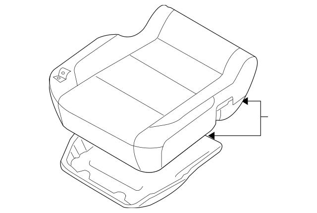 2012-2014 Nissan Titan Cushion Assembly 87300-9FE1A