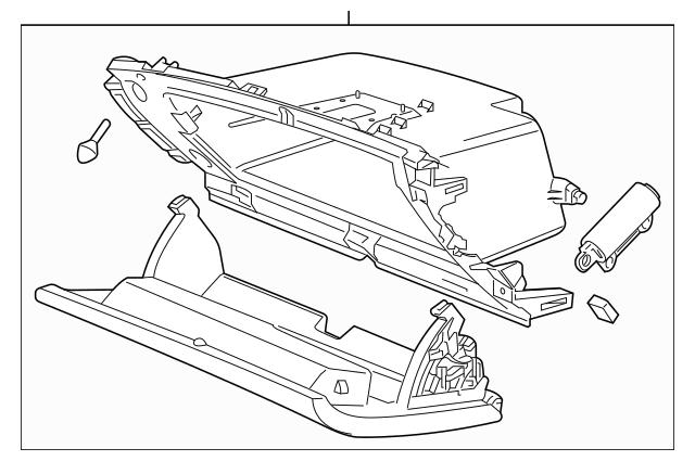 2016-2018 Chevrolet Cruze Glove Box Assembly 84122175