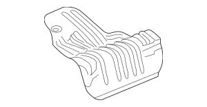 2017 Honda CIVIC 5-DOOR Plate, R Muffler Baffle 74655-TEA