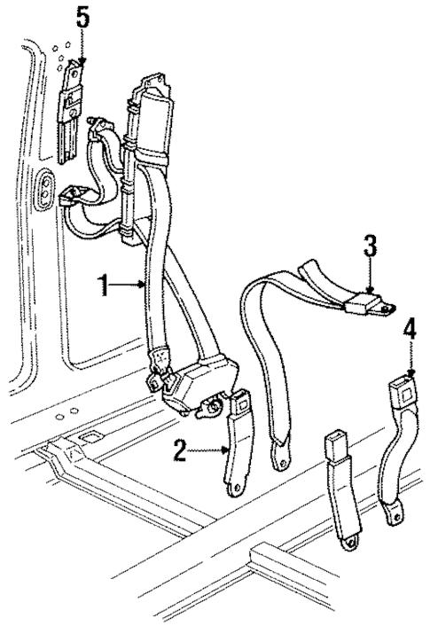 OEM 1999 Buick LeSabre Front Seat Belts Parts