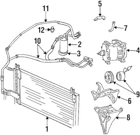 High Pressure Cut-Off Switch for 1997 Dodge Ram 1500