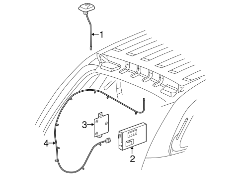 OEM 2006 Pontiac Torrent Antenna & Radio Parts